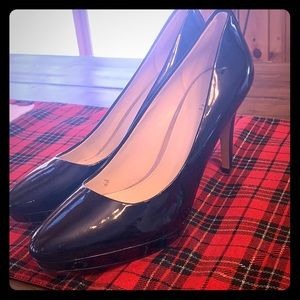 Coach patent black heels. Worn once!